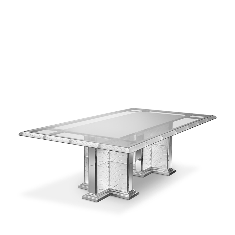 Coutard table | Rectangular table, clear crystal | Pierre-Yves Rochon