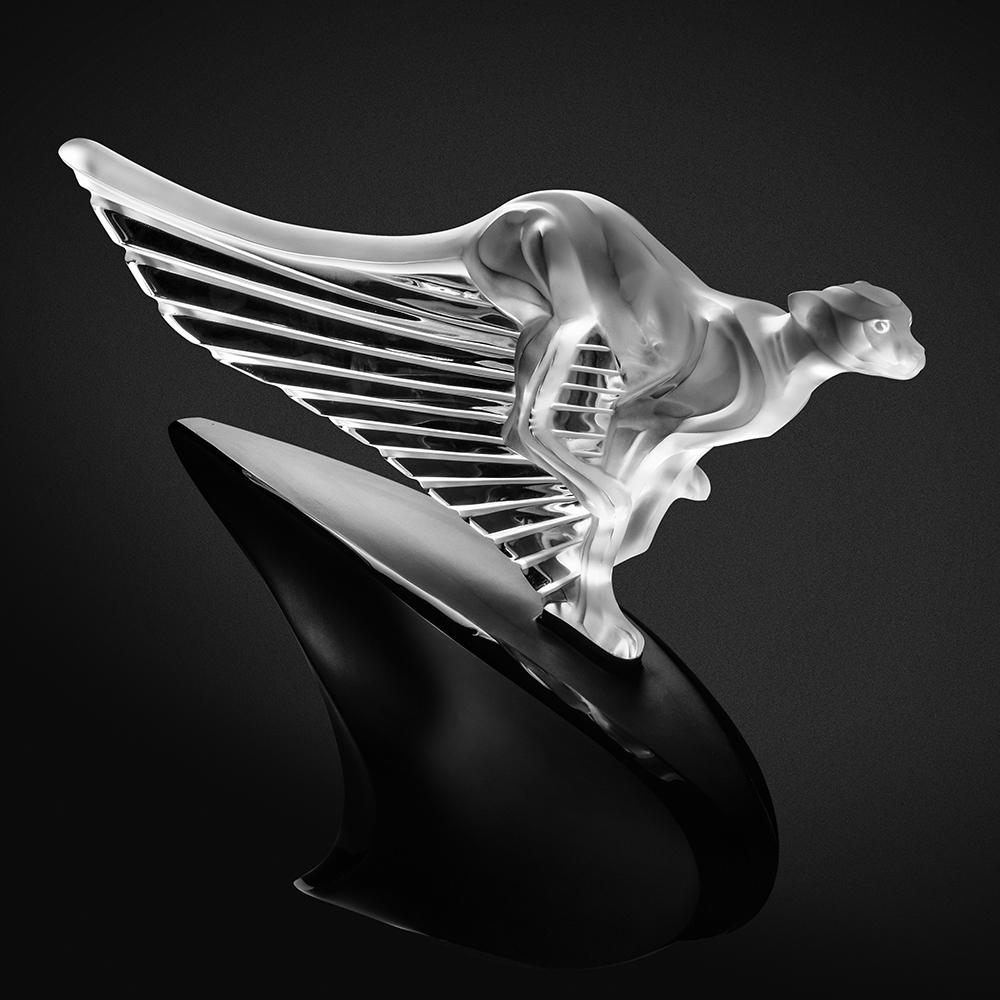 McLaren cheetah sculpture | Limited edition (20 pieces), clear crystal, lost wax | Sculpture Lalique