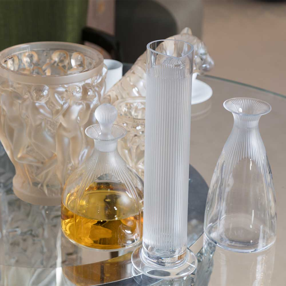 Decanter Le Cylindre | Clear crystal | Sculpture Lalique