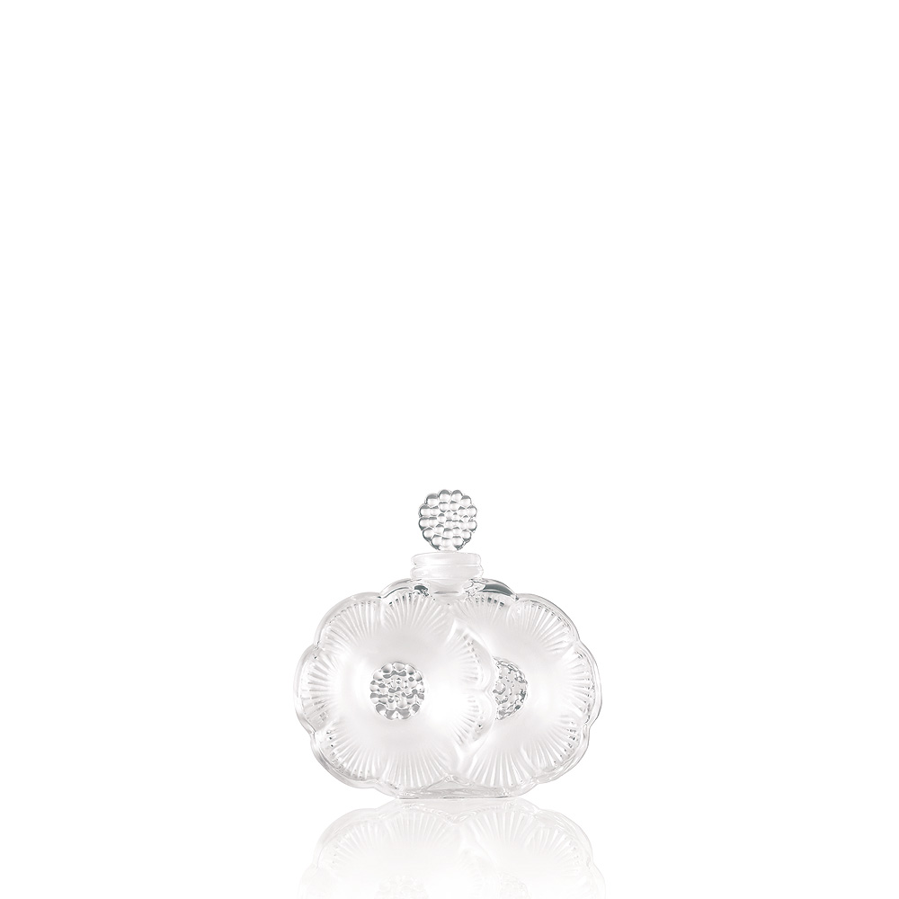 2 fleurs perfume bottle | clear crystal | perfume bottle lalique