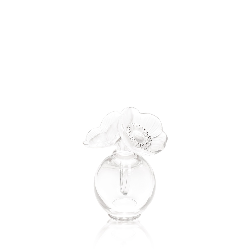 2 Anemones perfume bottle | Clear crystal | Perfume bottle Lalique