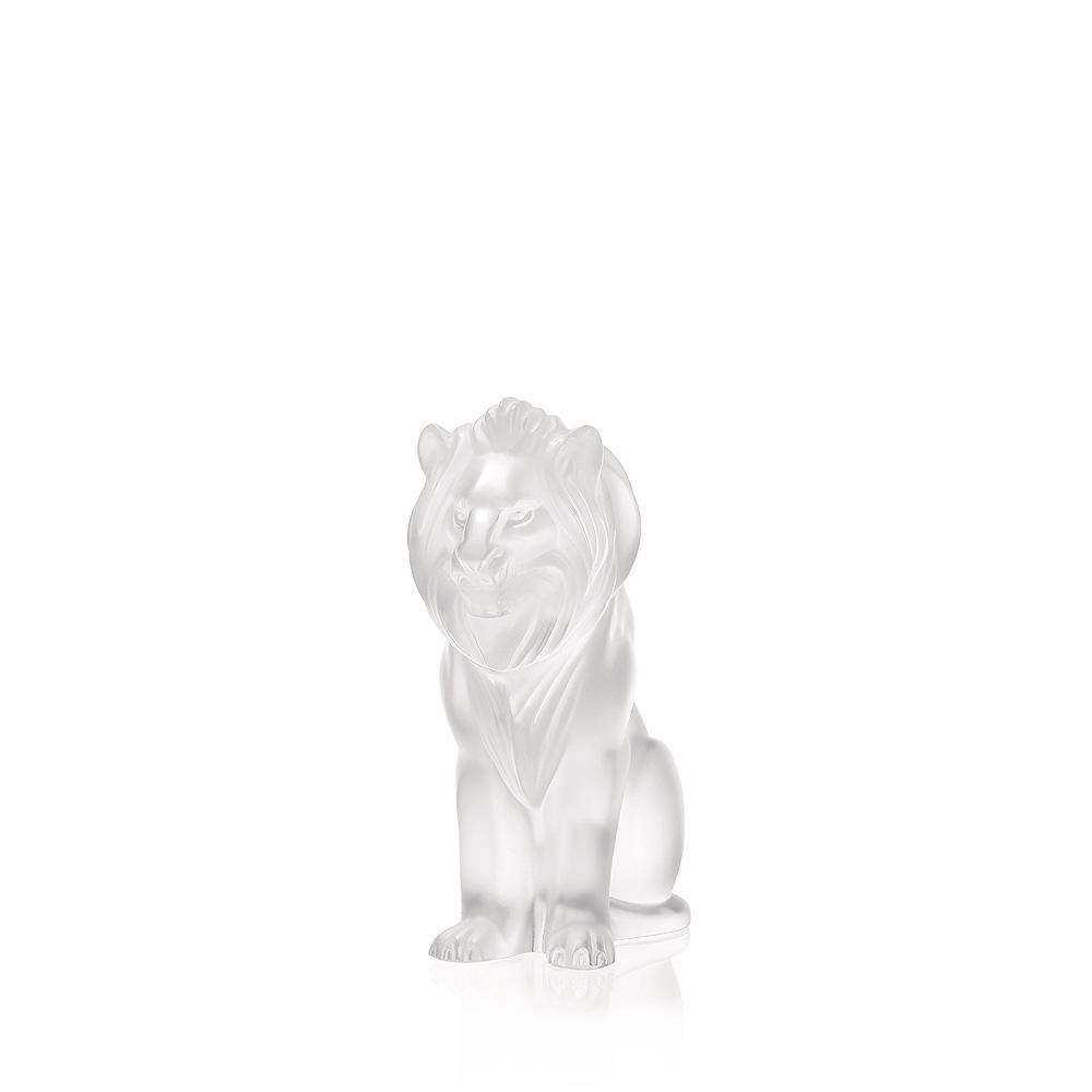Bamara Lion sculpture | Clear crystal | Sculpture Lalique
