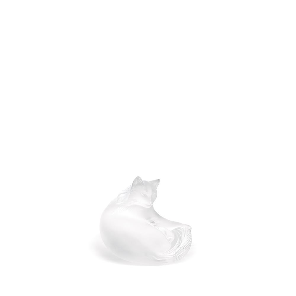 Happy Cat sculpture | Clear crystal | Sculpture Lalique