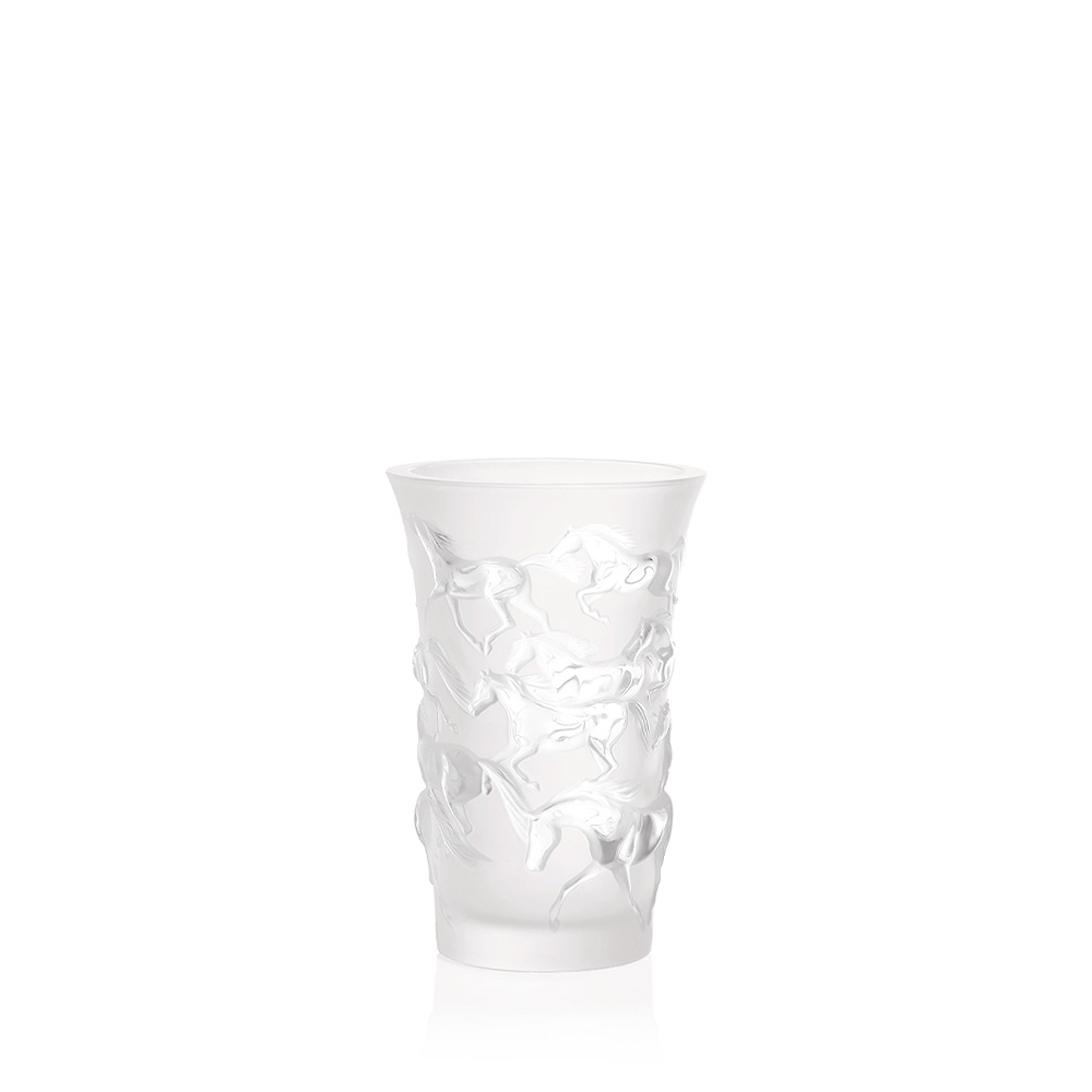 Mustang vase | Clear crystal | Vase Lalique
