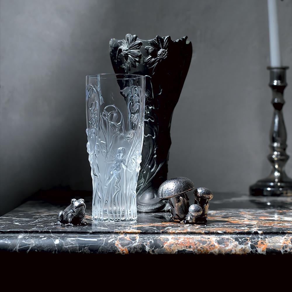 Elfes vase   Clear crystal   Vase Lalique