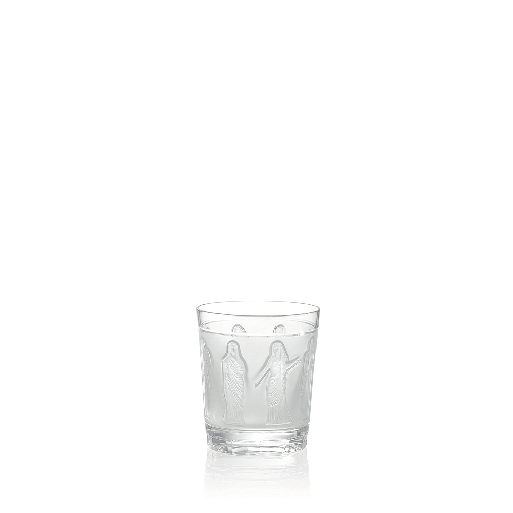 Femmes Antiques Whisky tumbler | Femmes Antiques collection, clear crystal | Glass Lalique