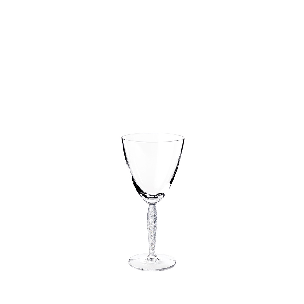 Louvre water glass | Louvre collection, clear crystal | Glass Lalique