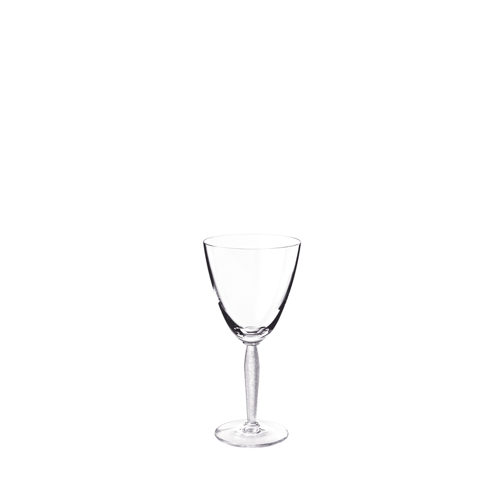 Louvre wine glass | Louvre collection, clear crystal | Glass Lalique