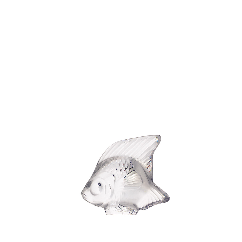 Fish sculpture   Clear crystal   Sculpture Lalique