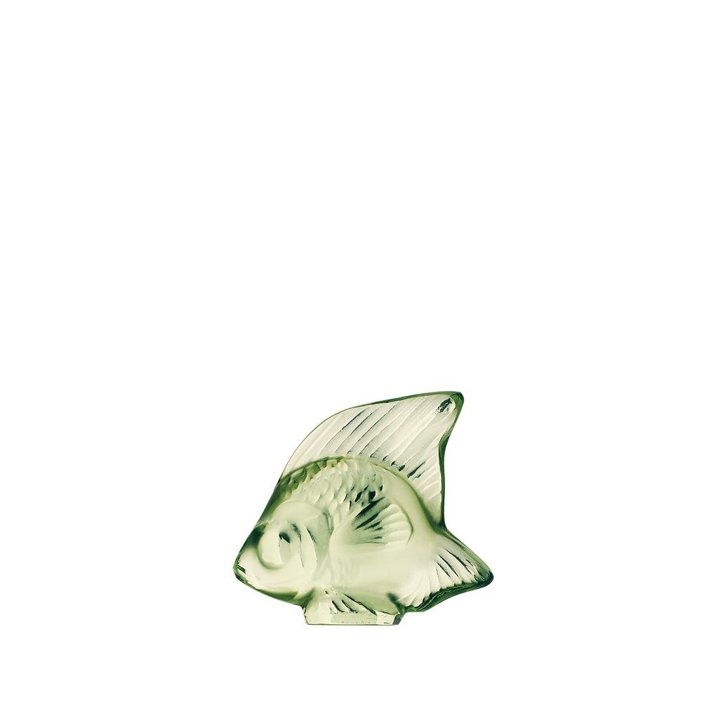 Fish sculpture | Light green crystal | Sculpture Lalique