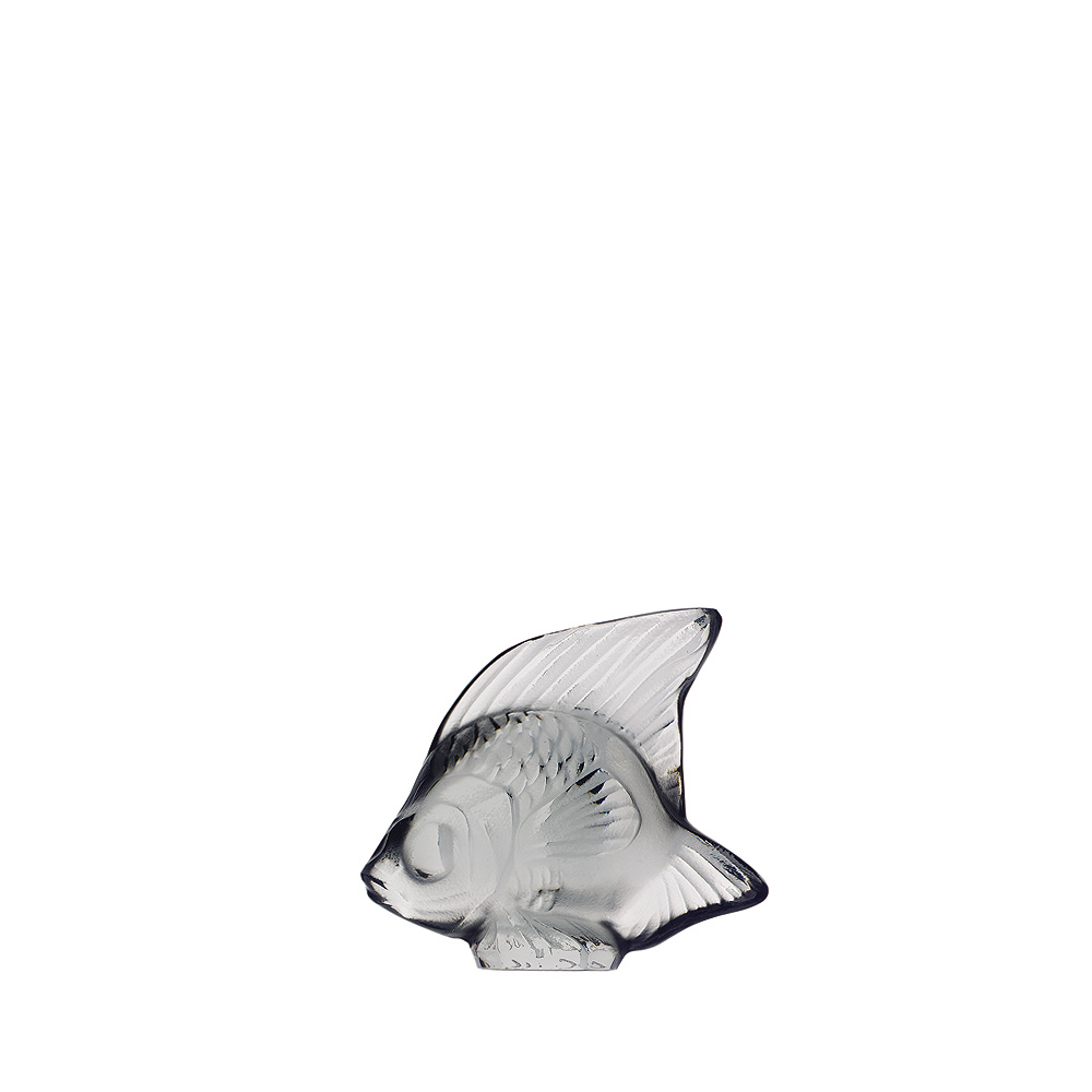 Fish sculpture | Grey crystal | Sculpture Lalique