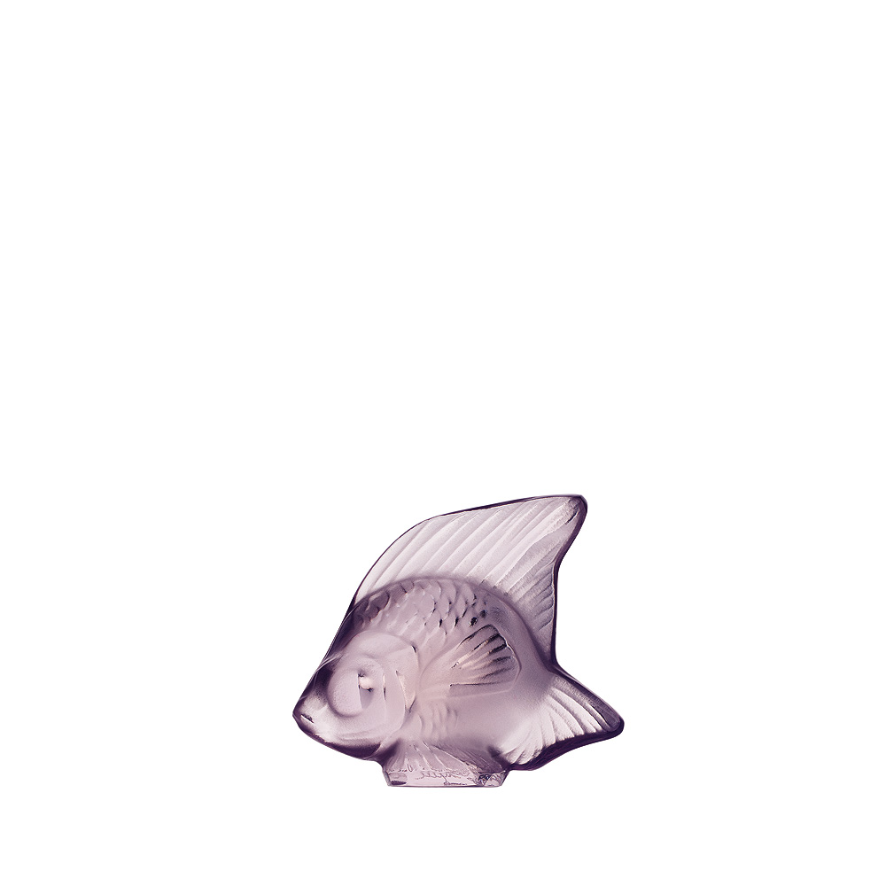 Fish sculpture   Lilac crystal   Sculpture Lalique