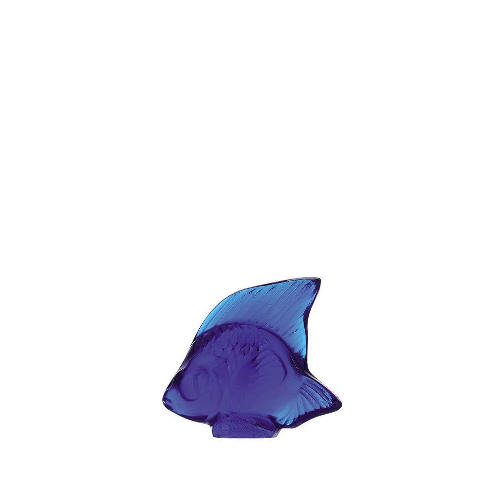 Fish sculpture | Cap-Ferrat blue crystal | Sculpture Lalique