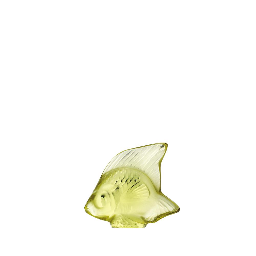 Fish sculpture | Yellow crystal | Sculpture Lalique