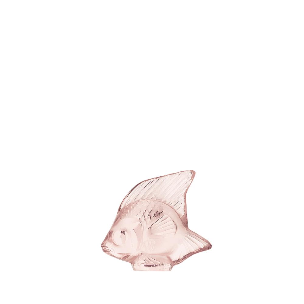 Fish sculpture | Pink crystal | Sculpture Lalique