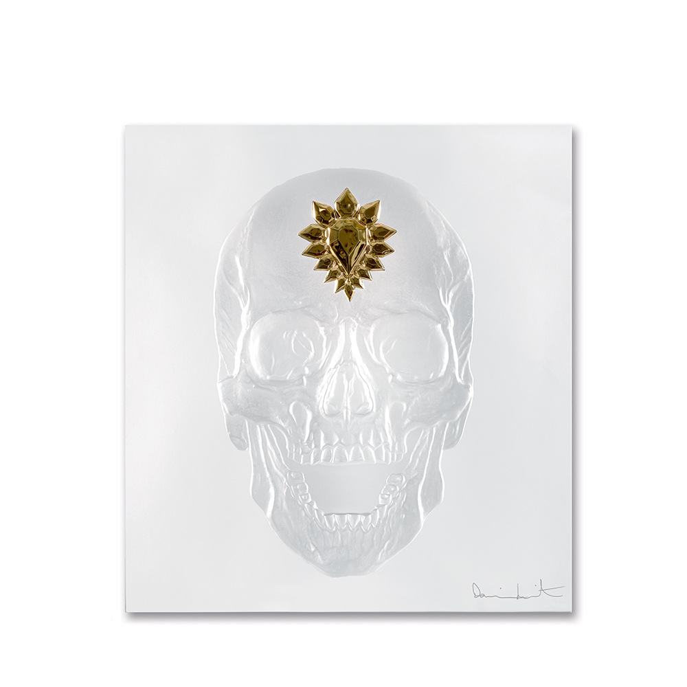 Eternal Memento, crystal panel | Limited edition (50 pieces), clear crystal and gold stamped| Eternal, Damien Hirst and Lalique