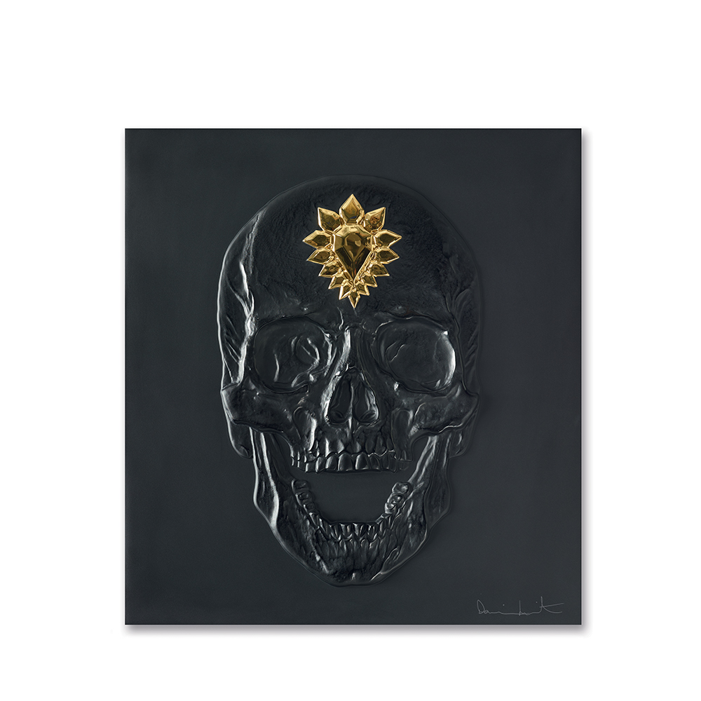 Eternal Memento, crystal panel | Limited edition (50 pieces), black crystal and gold stamped| Eternal, Damien Hirst and Lalique