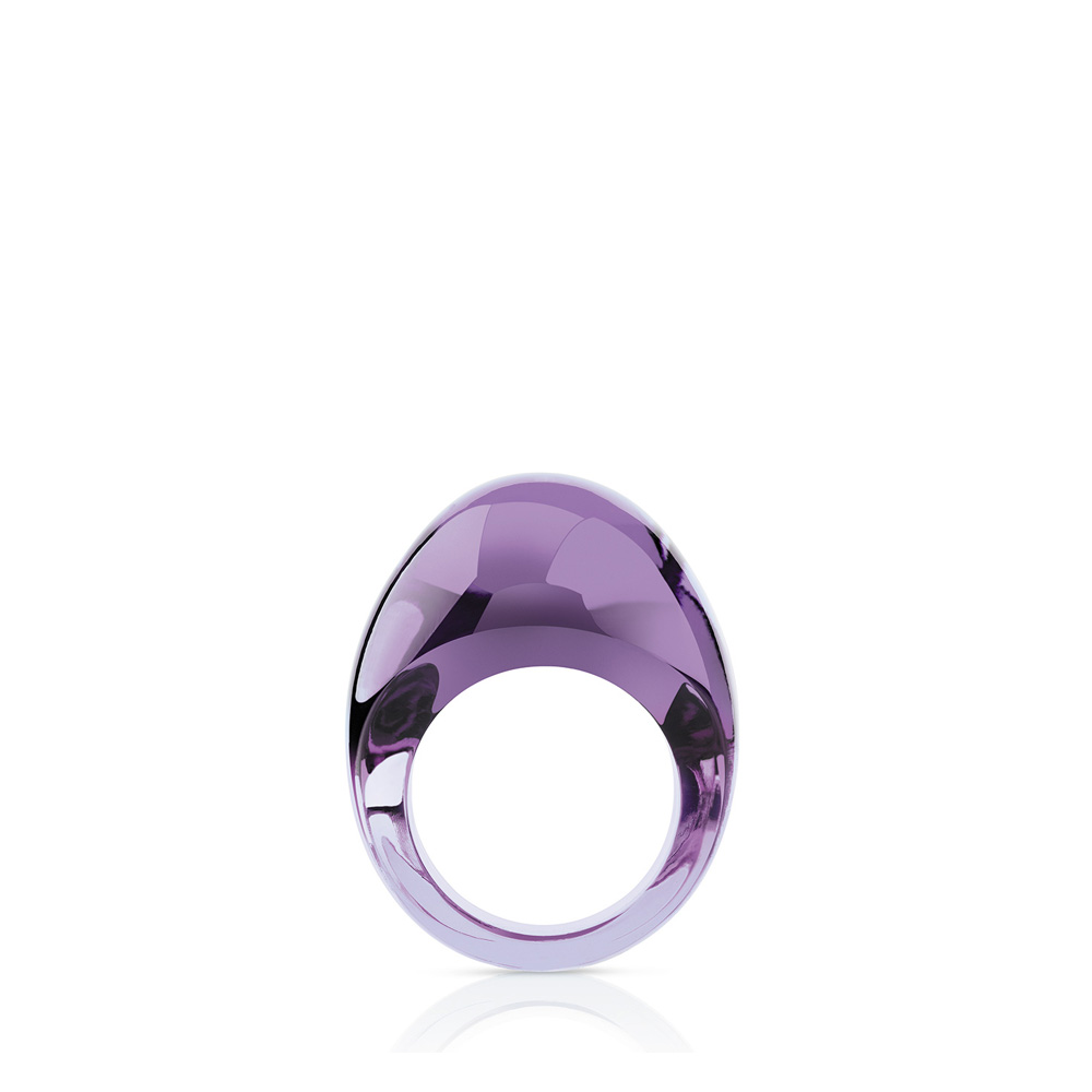 Cabochon ring | Parma crystal | Costume jewellery Lalique