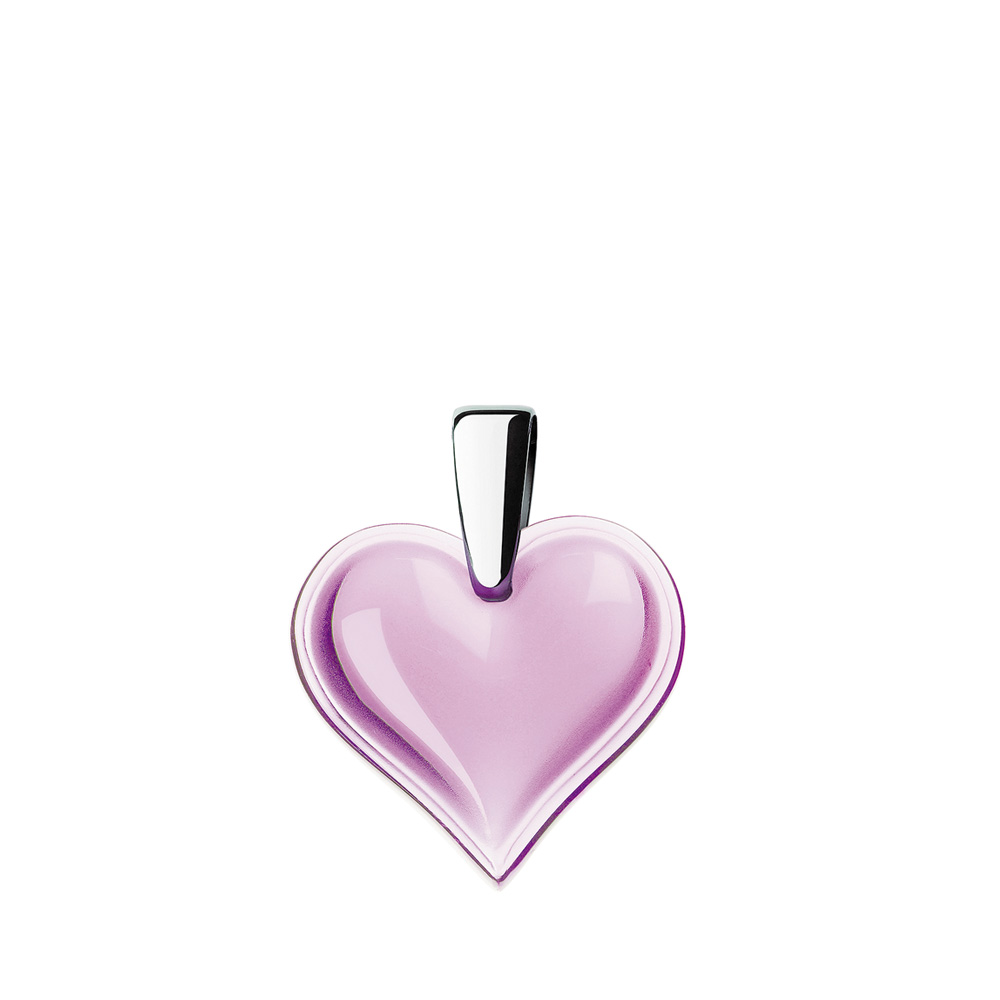 Amoureuse Beaucoup pendant | Parma crystal, silver | Costume jewellery Lalique