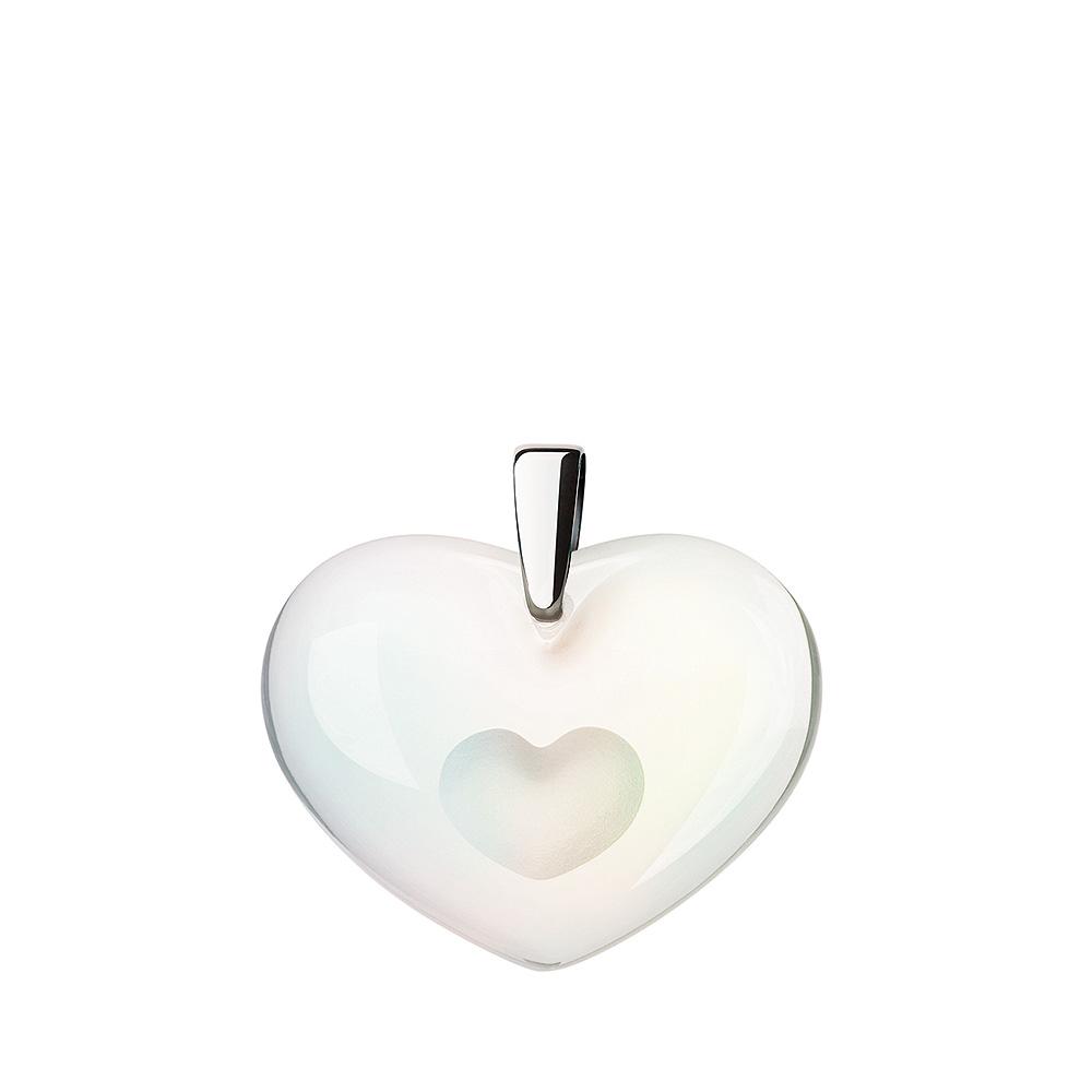 Amoureuse à la Folie pendant | Opalescent crystal, silver | Costume jewellery Lalique