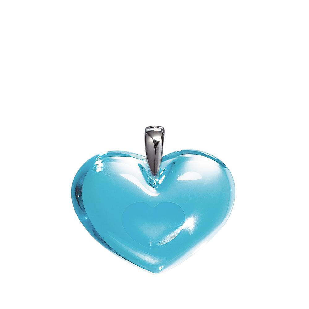 Amoureuse à la Folie pendant   Light blue crystal, silver   Costume jewellery Lalique