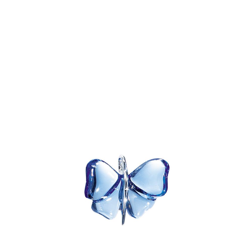 Papillon pendant   Sapphire blue crystal, silver   Costume jewellery Lalique