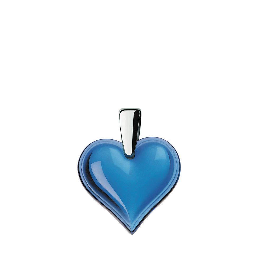 Amoureuse Beaucoup pendant | Sapphire blue crystal, silver | Costume jewellery Lalique