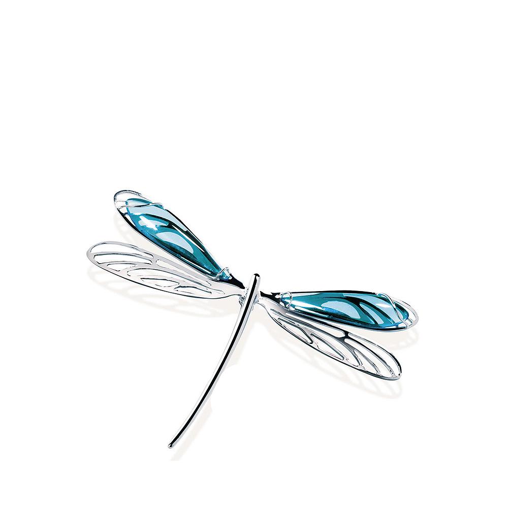 Libellule pendant | Light blue crystal, silver | Costume jewellery Lalique