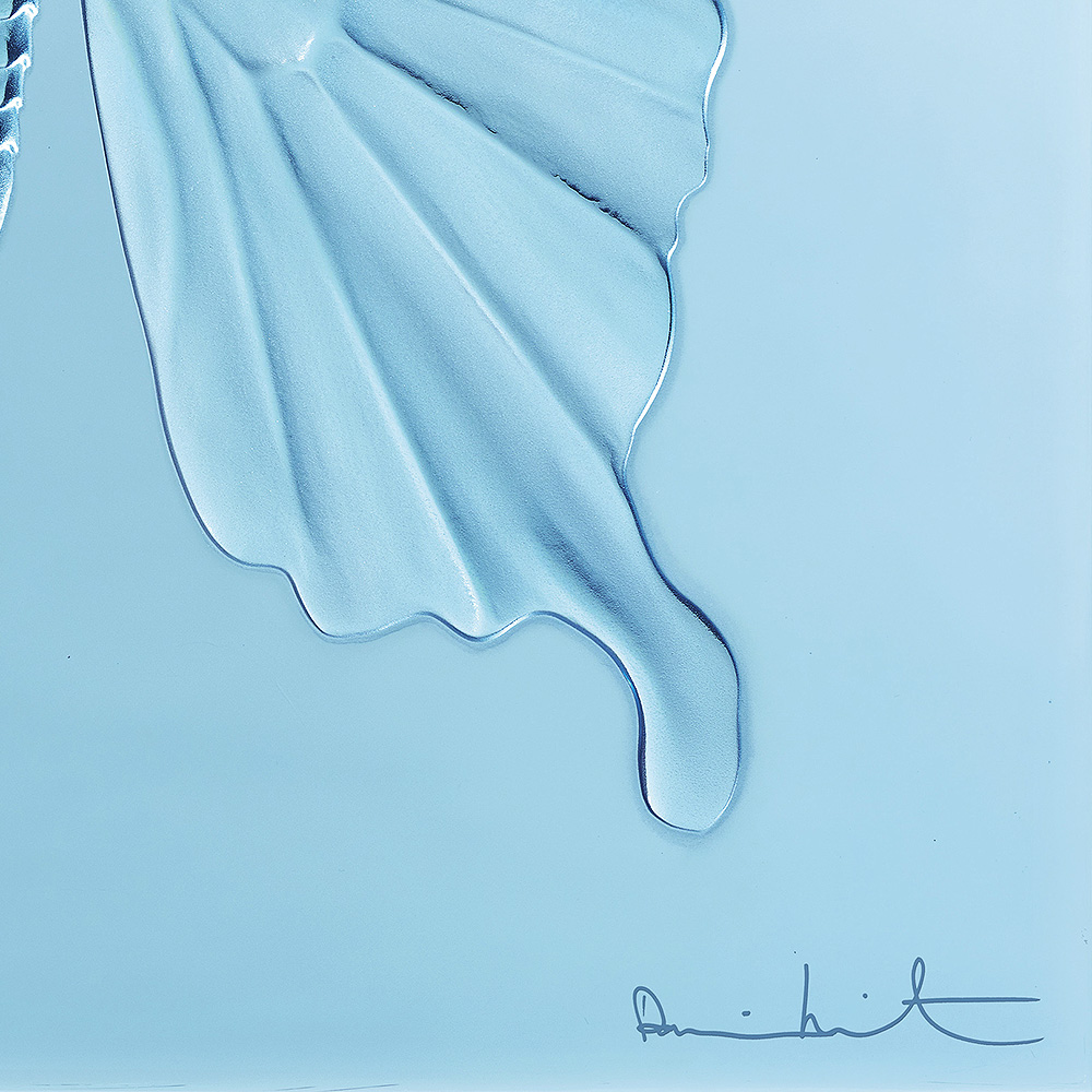 Eternal Beauty, crystal panel | Limited edition (50 pieces), light blue crystal | Eternal, Damien Hirst and Lalique