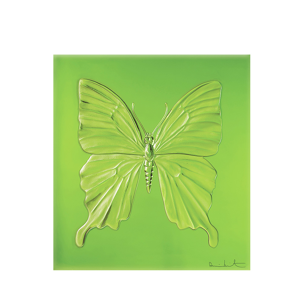 Eternal Beauty, crystal panel | Limited edition (50 pieces), green crystal | Eternal, Damien Hirst and Lalique