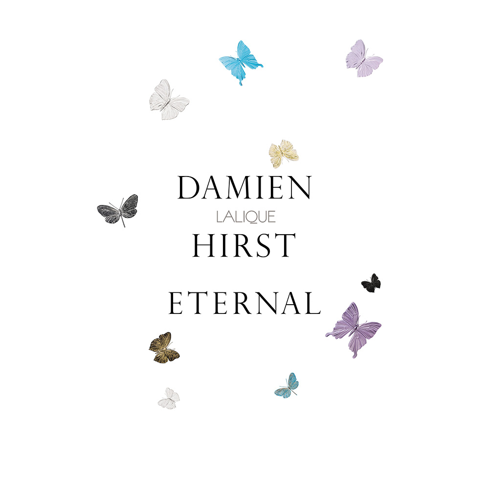 Eternal Beauty, crystal panel   Limited edition (50 pieces), black crystal and platinum stamped   Eternal, Damien Hirst and Lalique