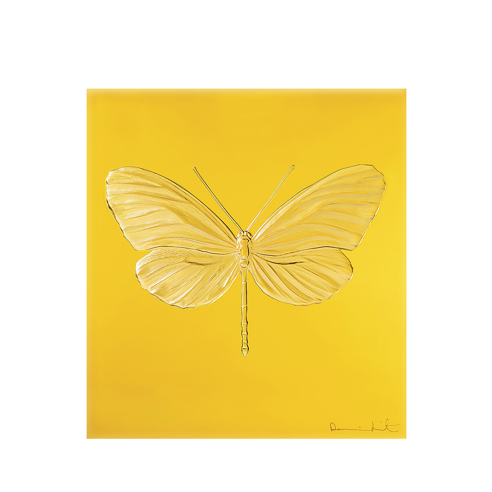 Eternal Hope, crystal panel | Limited edition (50 pieces), amber crystal | Eternal, Damien Hirst and Lalique