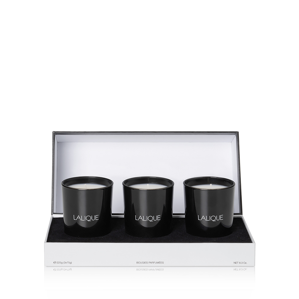 Mediterranean Colours - Scented Candles Gift Set | Set of 3 candles 75 g (2.6 Oz.) | Lalique Parfums