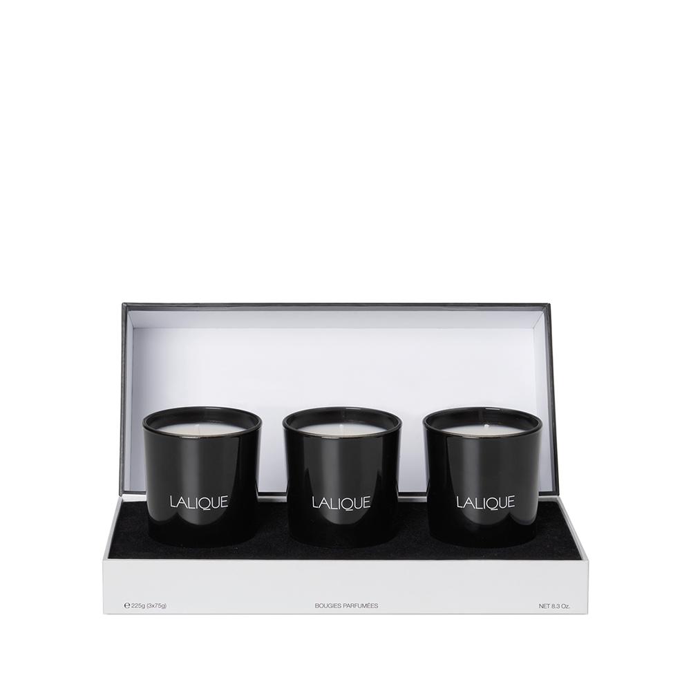 Asian Secrets - Scented Candles Gift Set | Set of 3 candles 75 g (2.6 Oz.) | Lalique Parfums