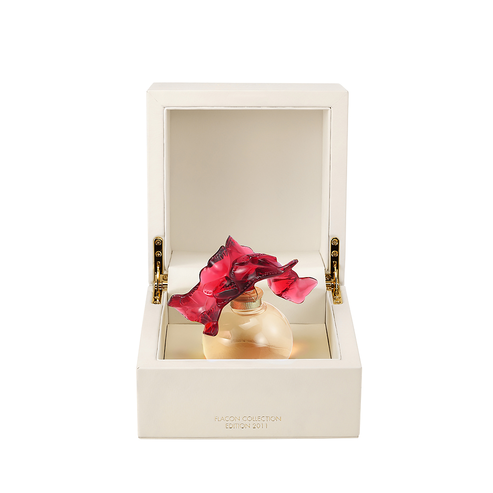 LALIQUE DE LALIQUE Crystal Flacon | Limited, Numbered and Signed Edition 2011, 100 ml (3.3 Fl. Oz.) | Lalique Parfums