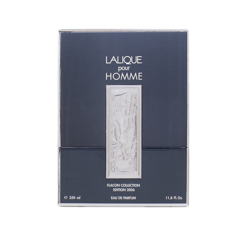 LALIQUE POUR HOMME LION Crystal Flacon | Limited, Numbered and Signed Edition 2006, 11.8 Fl. Oz. (350 ml) | Lalique Parfums