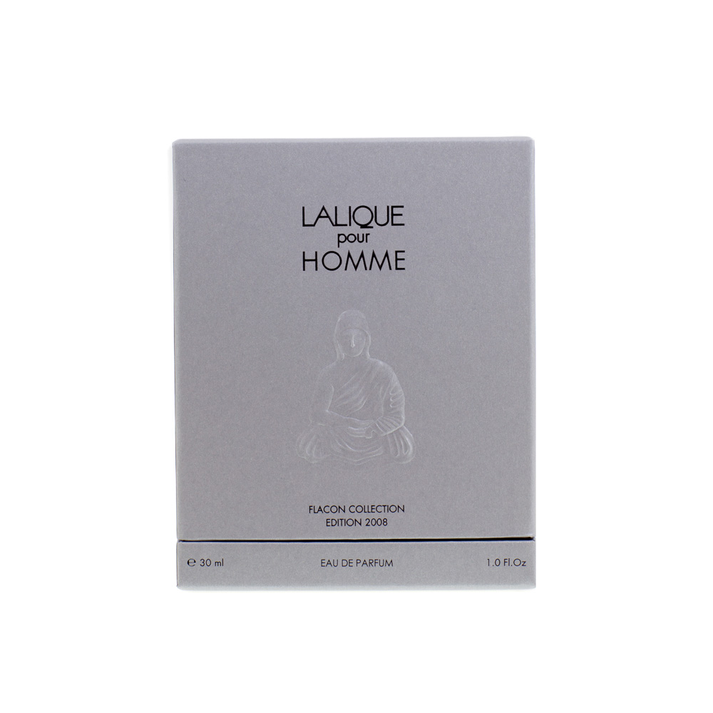 LALIQUE POUR HOMME LION Crystal Flacon | Limited, Numbered and Signed Edition 2008, 30 ml (1 Fl. Oz.) | Lalique Parfums