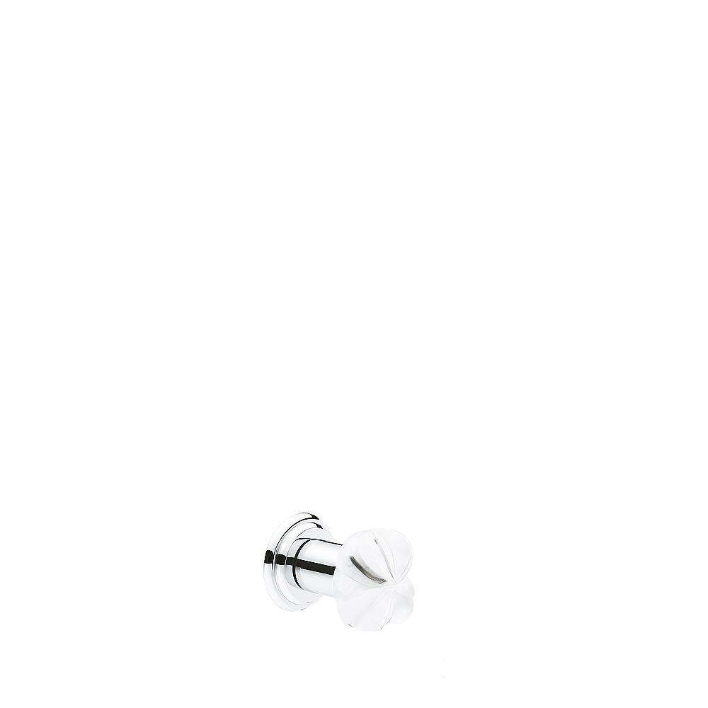 Thaïs knob | Clear crystal, chrome finish or gilded finish | Interior Design Lalique