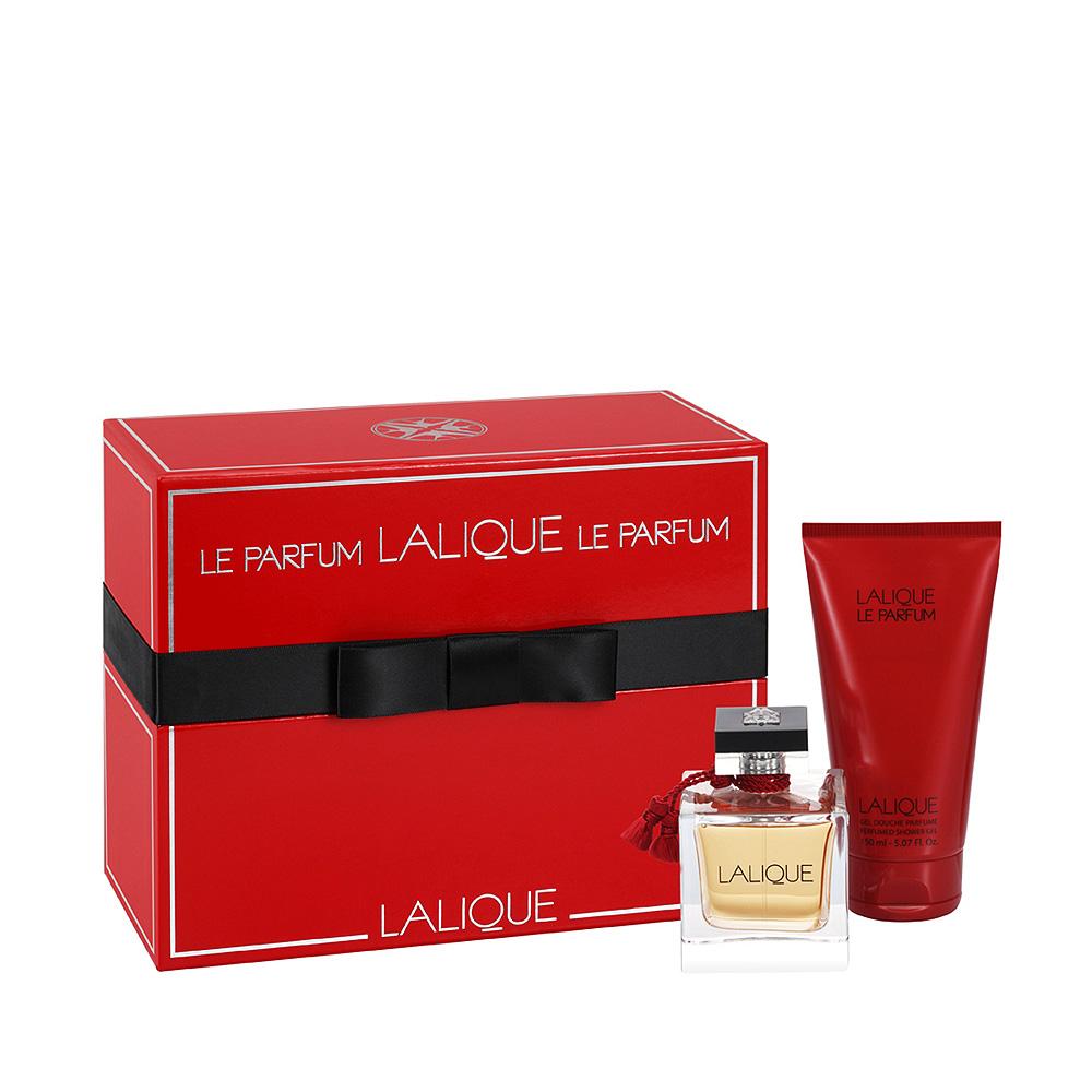 lalique le parfum gift set 100 ml 3 3 fl oz natural spray eau de parfum and 150 ml. Black Bedroom Furniture Sets. Home Design Ideas