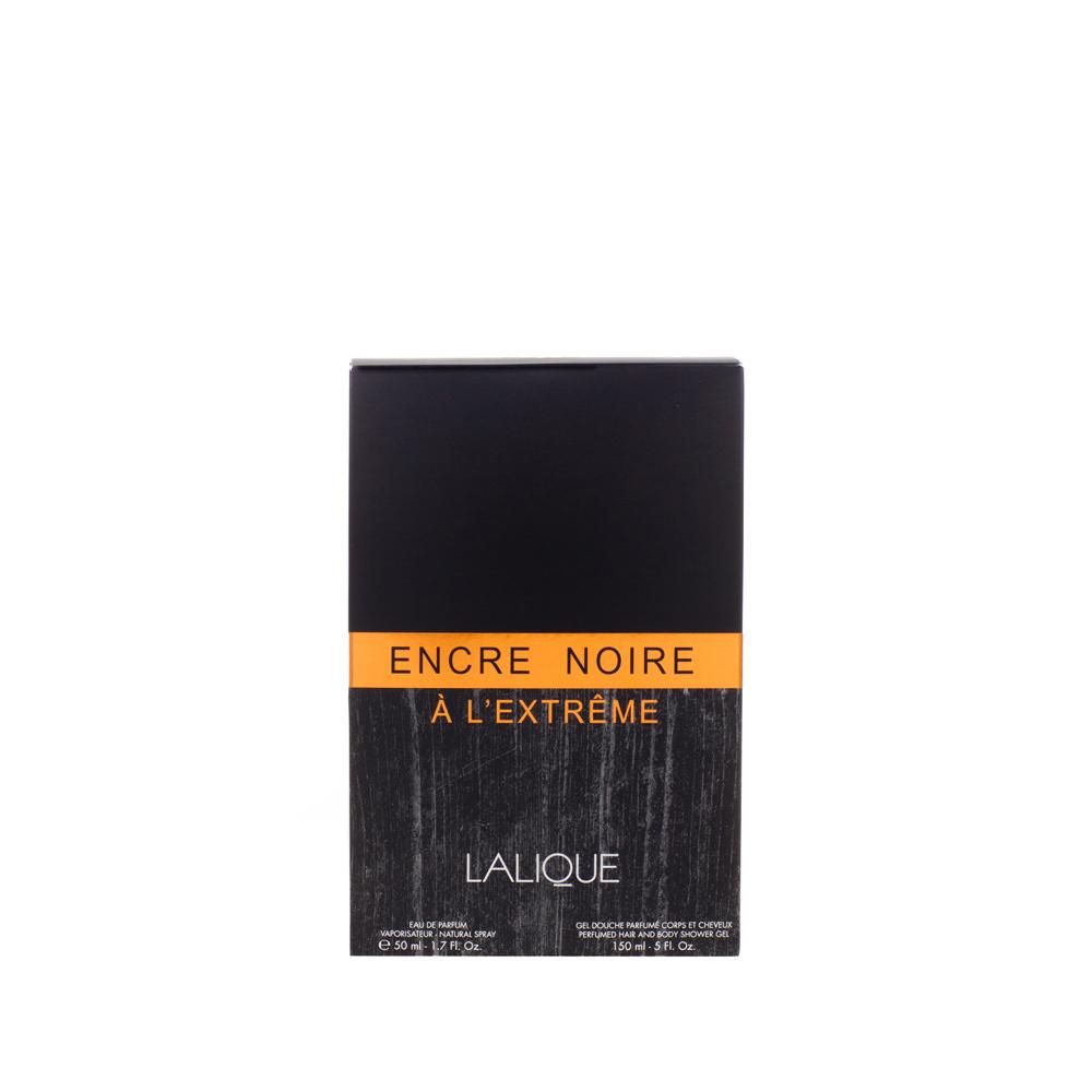 ENCRE NOIRE À L'EXTRÊME Gift Set | 50 ml (1.7 Fl. Oz.) Natural Spray Eau de Parfum and 150 ml (5 Fl. Oz.) Perfumed Shower Gel | Lalique Parfums