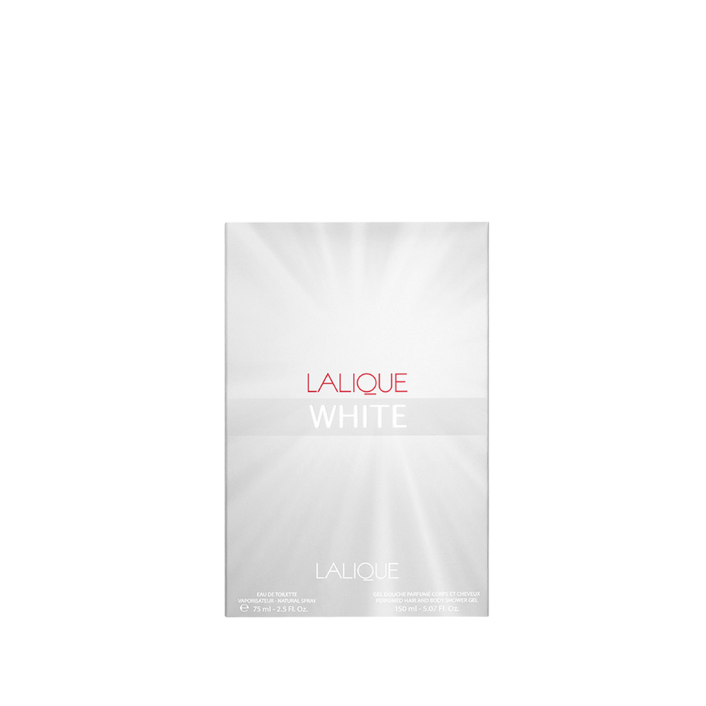 LALIQUE WHITE Gift Set | 75 ml (2.5 Fl. Oz.) Eau de Toilette Natural Spray and 150 ml (5.07 Fl. Oz.) Perfumed Shower Gel | Lalique Parfums