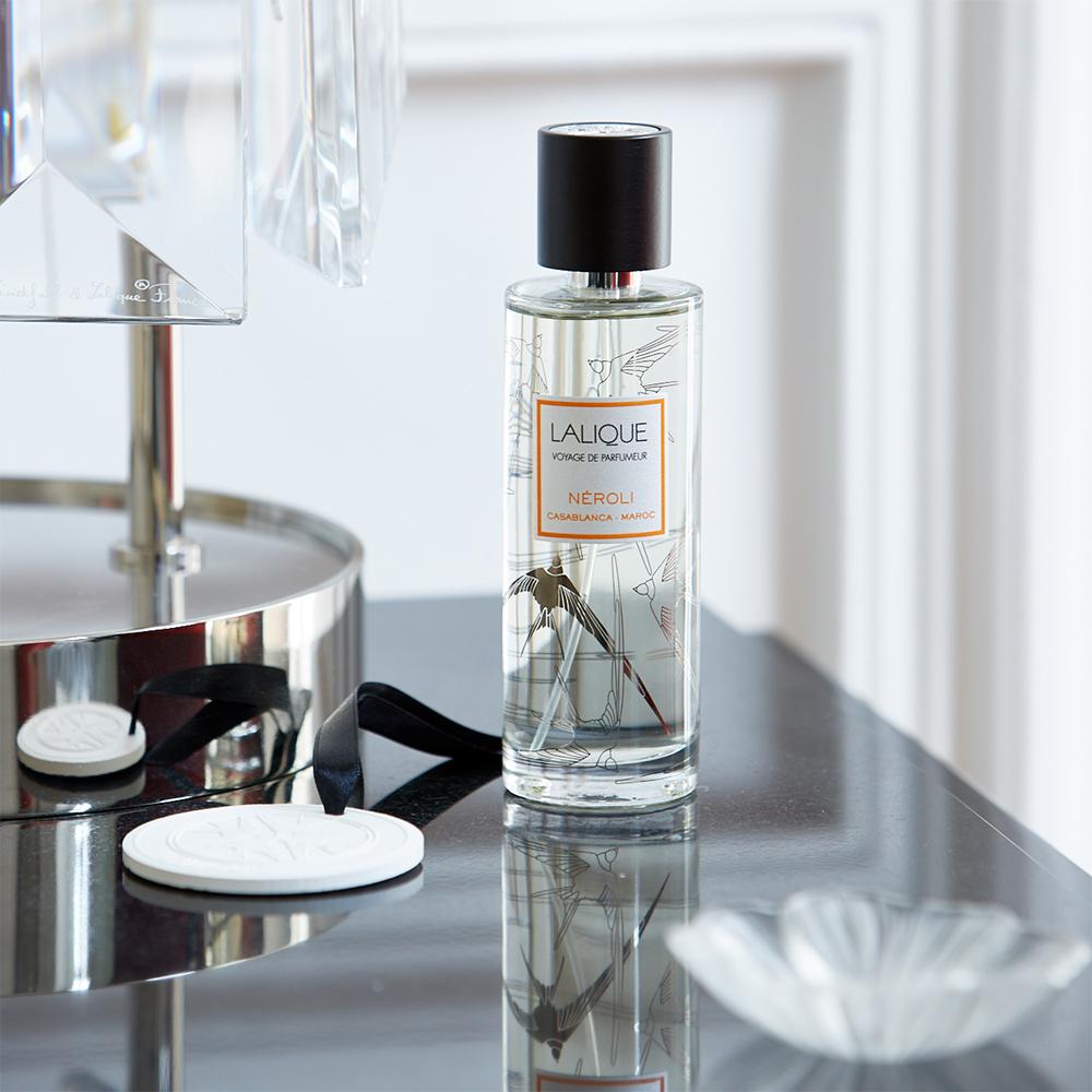 Neroli, Casablanca - Morocco, Room Spray | 100 ml (3.38 Fl. Oz.) | Lalique Parfums