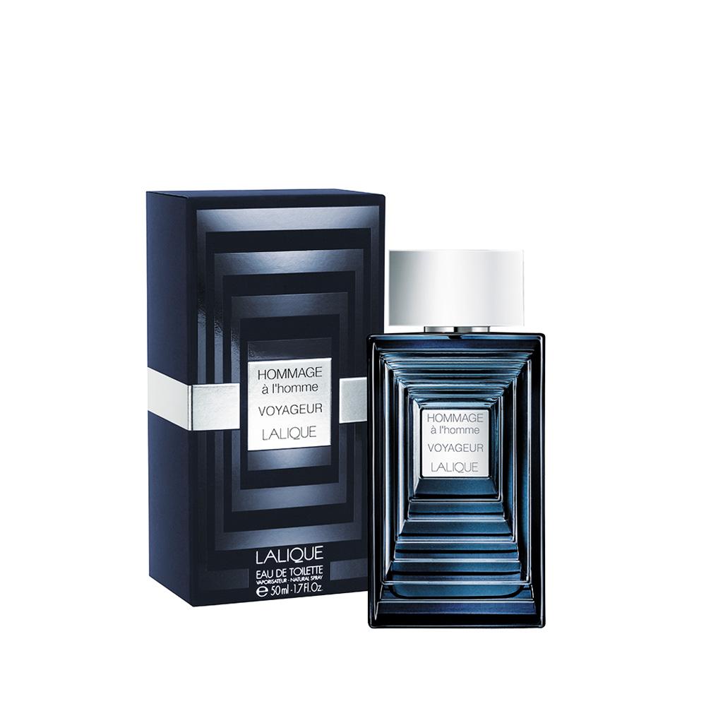 HOMMAGE À L'HOMME VOYAGEUR  Eau de Toilette | 50 ml (1.7 Fl. Oz.) Natural Spray | Lalique Parfums