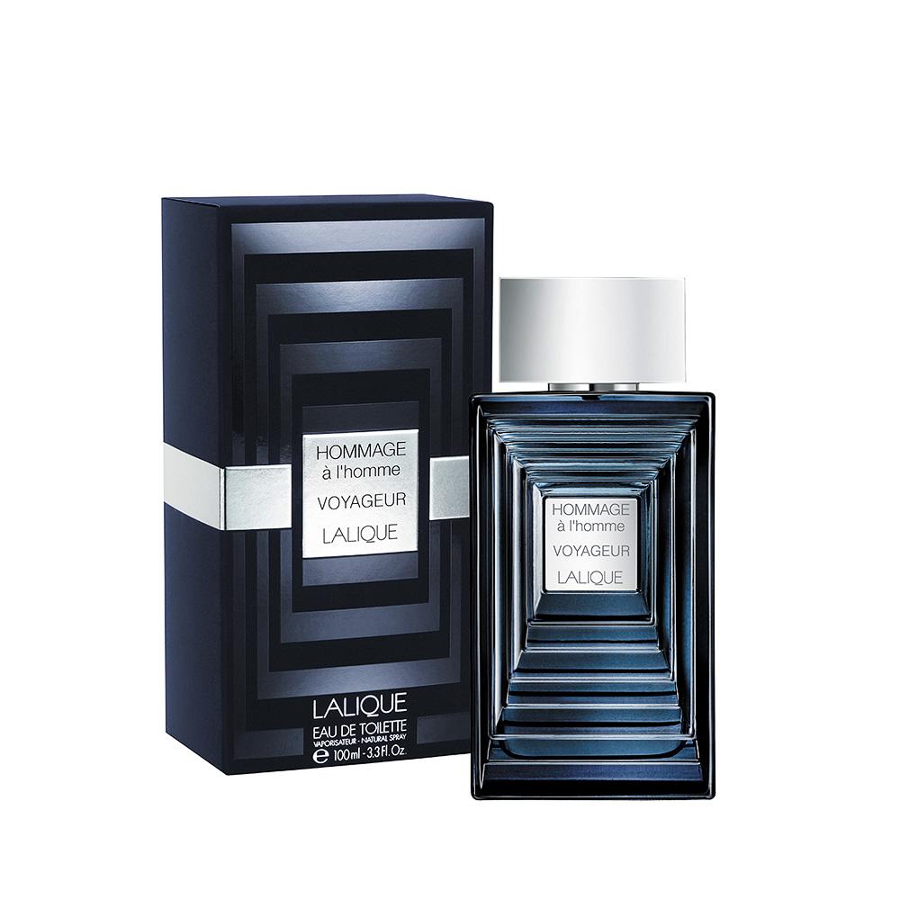 HOMMAGE À L'HOMME VOYAGEUR  Eau de Toilette   100 ml (3.3 Fl. Oz.) Natural Spray   Lalique Parfums