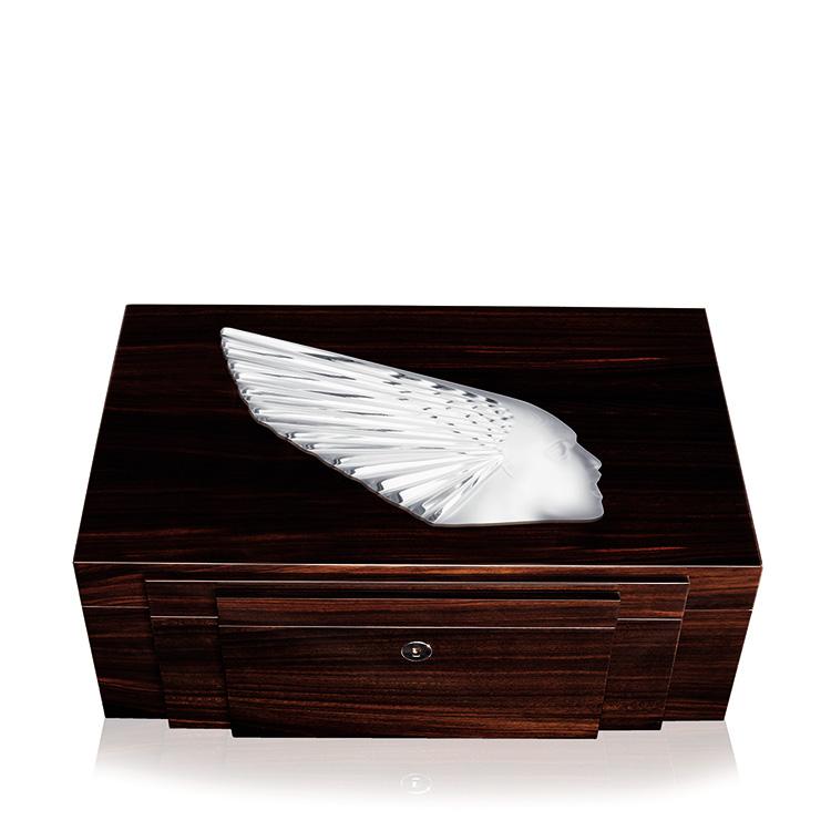 dahlia n°2 box | clear crystal | box lalique | lalique