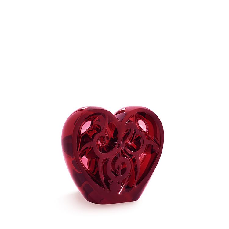 Music is Love Heart sculpture