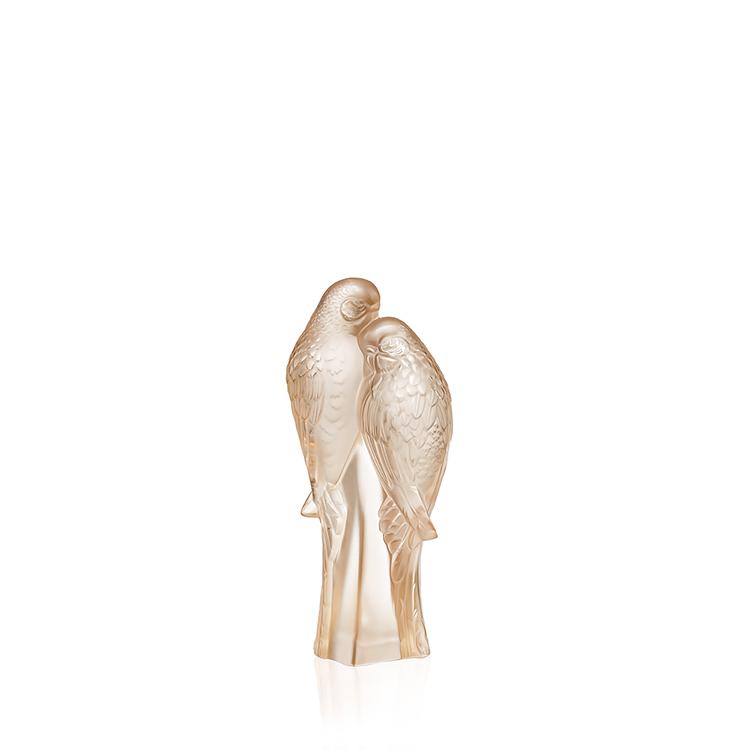 2 Parakeets sculpture