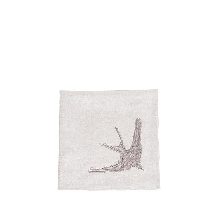 1 Hirondelle embroidered napkin