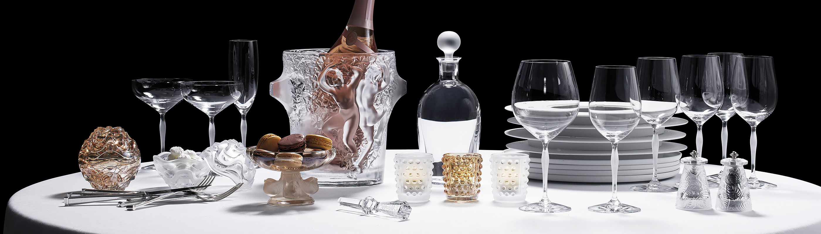 Dining : crystal tableware - Pezcame.Com