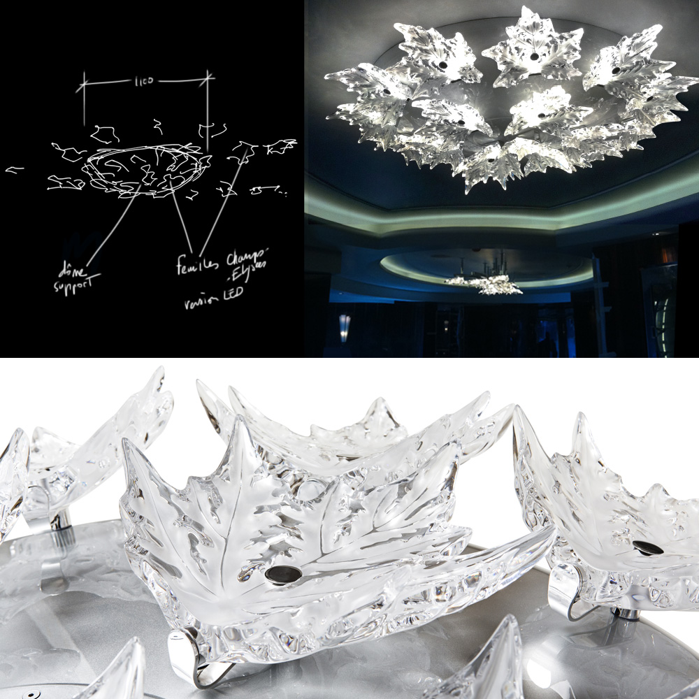 Custom made crystal designs for architectural projects